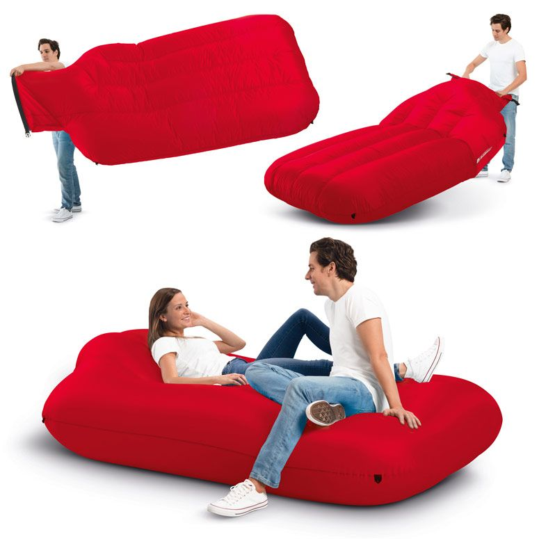 Fatboy Lamzac Xxxl Massive Instantly Inflatable Lounger Cushions On Sofa Modern Couch Inflatable Furniture