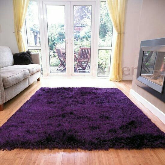 Purple Fluffy Rug For The Bedroom!
