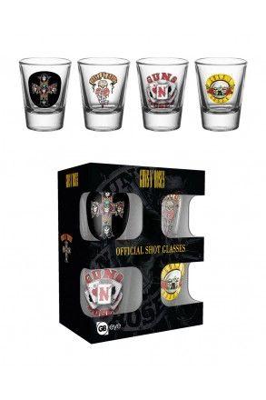 Guns N Roses Mix Shot Glasses