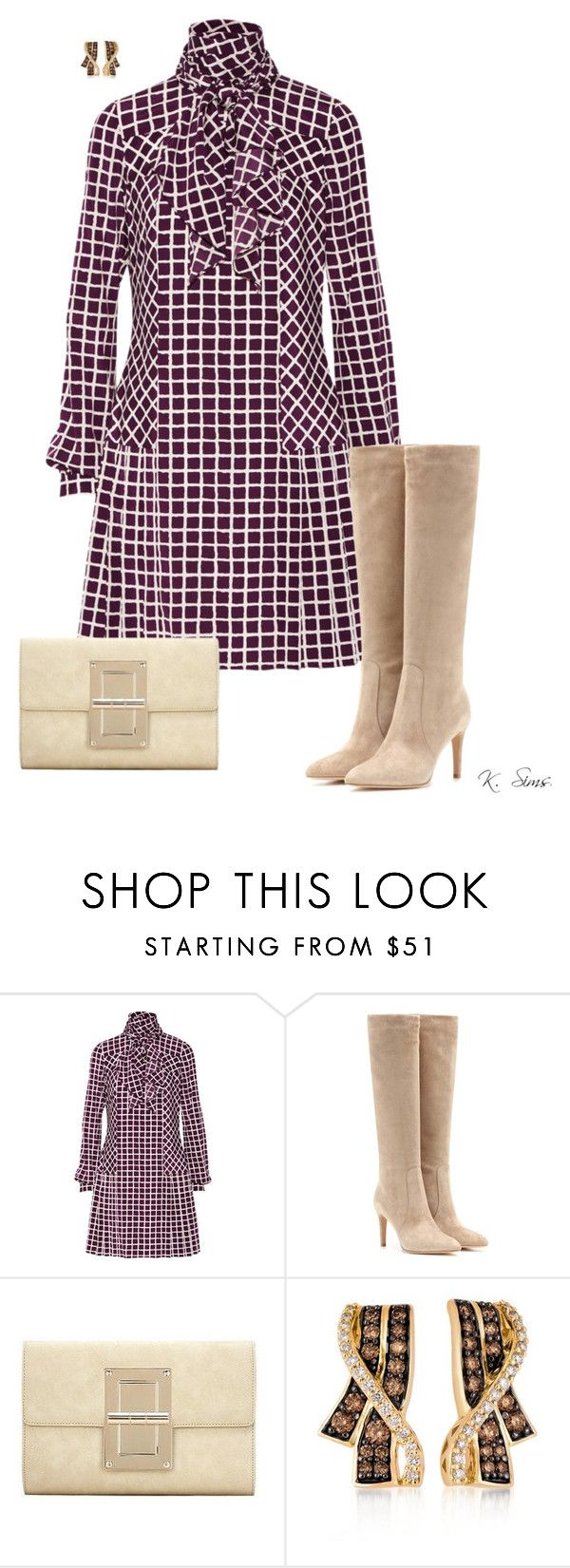 """""""This Dress!"""" by ksims-1 ❤ liked on Polyvore featuring Oscar de la Renta, Gianvito Rossi and LE VIAN"""