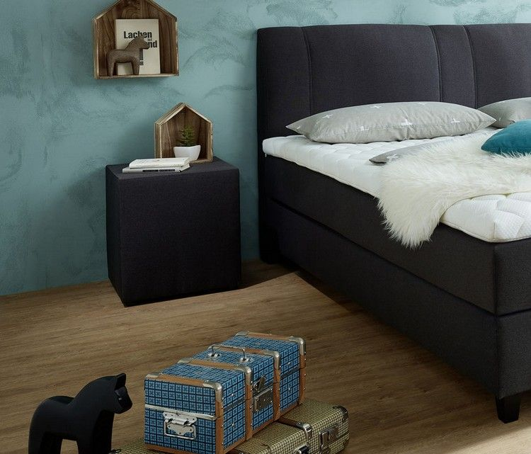 boxspringbett selber zusammenstellen nachttisch passende farbe - farbe fürs schlafzimmer