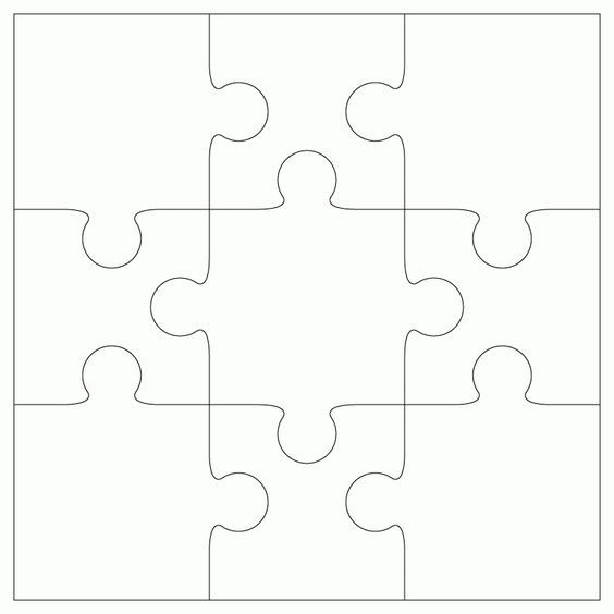 free svg 9 piece jigsaw template by bird craft projects