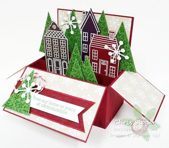 Tarjeta de navidad original cajitas para dar un detalle - Tarjeta navidad original ...