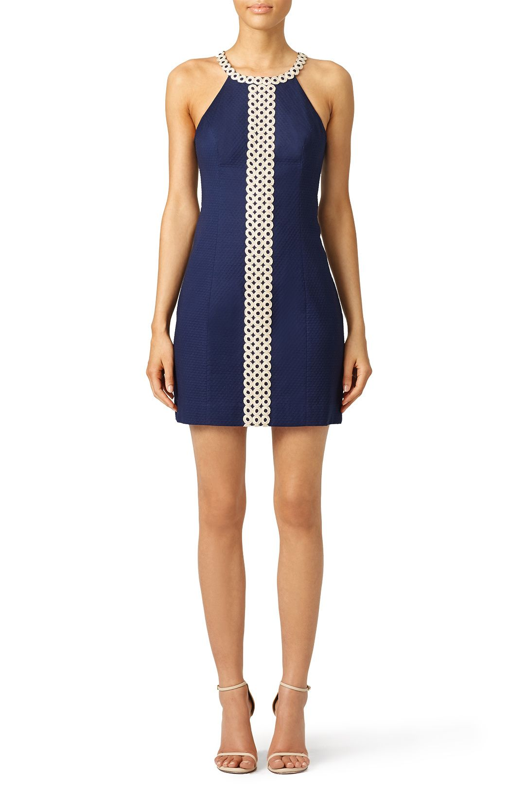 e0faa073df5b Navy shift dress with gold detail. Perfect for a summer bridal shower! Lilly  Pulitzer Navy Sasha Shift