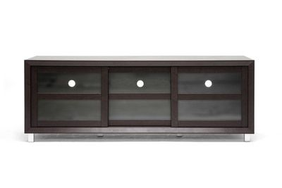 Baxton Studio Pacini Dark Brown Modern TV Stand
