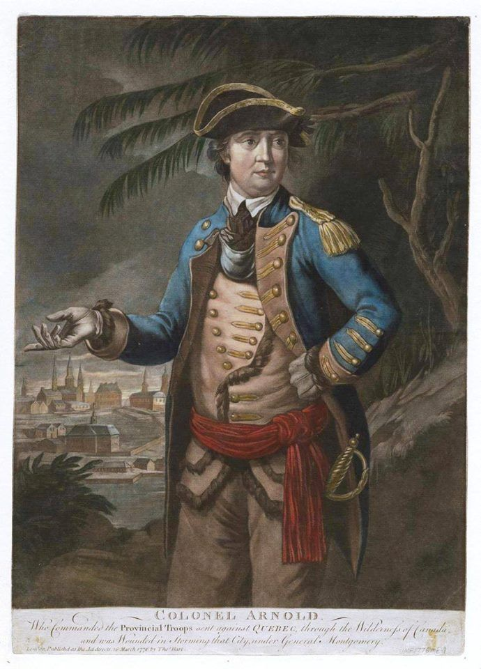 in 1775, Benedict Arnold launches his first attack on the city of Quebec. It didn't  go very well.
