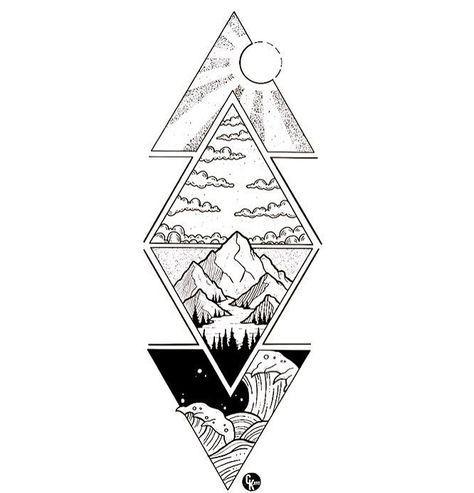 Photo of Best Tattoo Mountain Geometric Illustrations 25+ Ideas