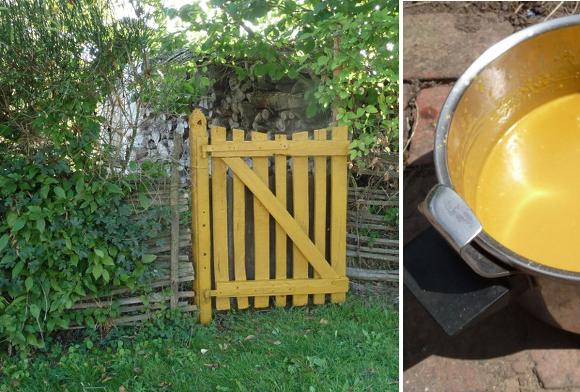 Pinturas ecológicas de harina para exteriores
