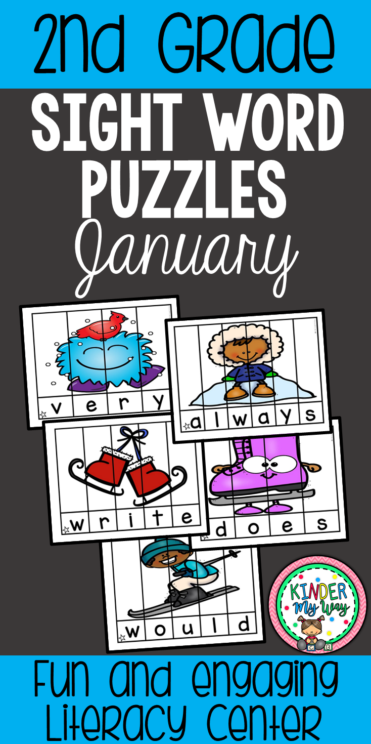 For hours january sight word puzzles nd grade