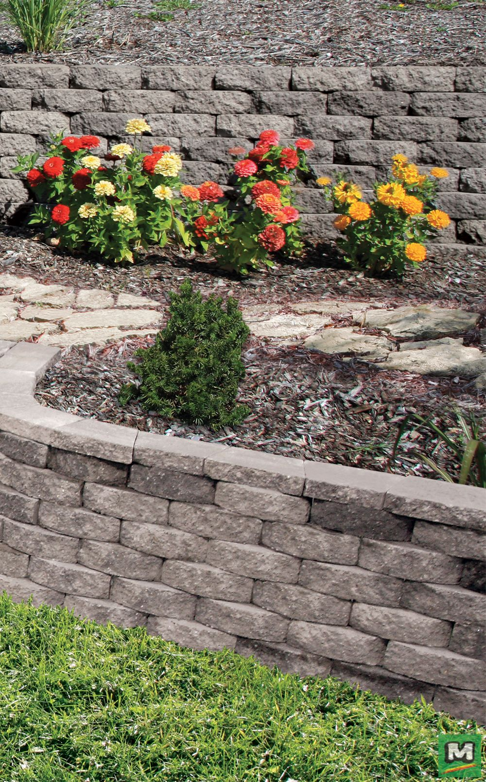 Upgrade Your Landscape With This Crestone Beveled Wall Block They Feature A Back Lip For Alignment And Landscaping Inspiration Landscaping Supplies Landscape