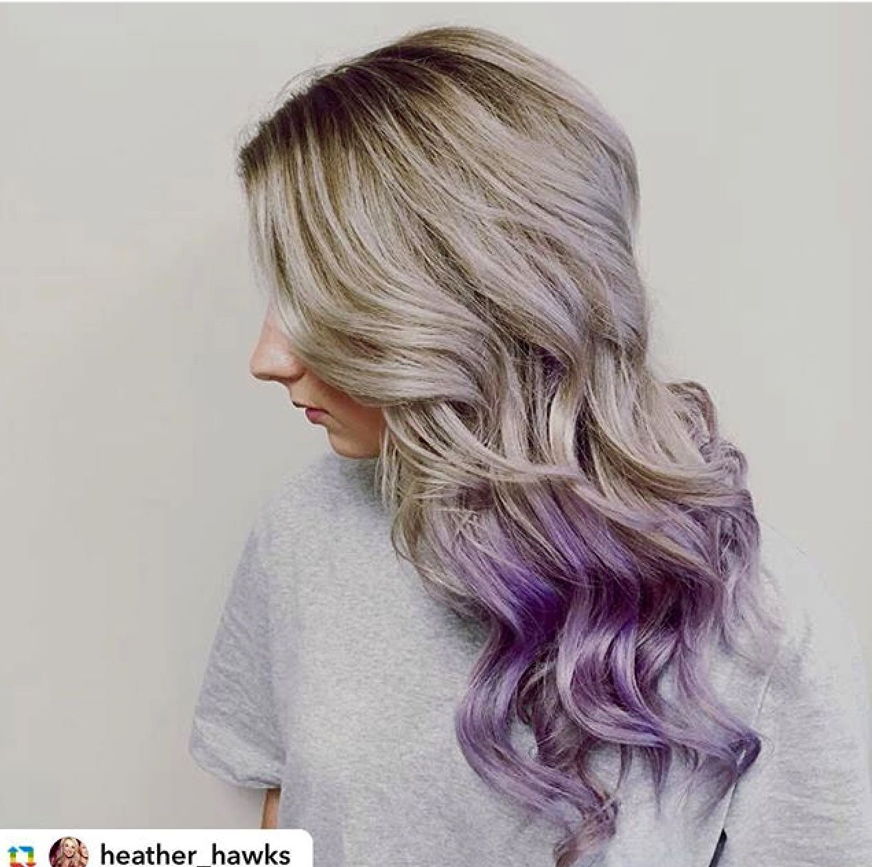 Idea By Collage Salon On In Our Chair Lavender Hair Ombre