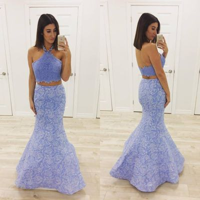 Lavender Lace Prom Dress,2 Pieces Prom Dress,Fashion Prom | Little ...