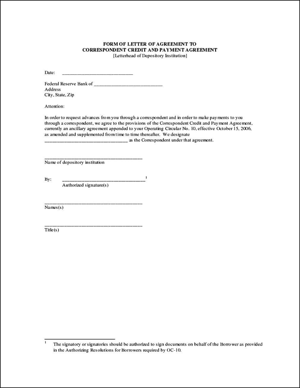 Credit Sale Agreement Template Lettering Letter Templates Payment Agreement