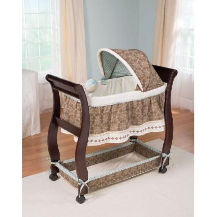 Elegant wooden baby boy bassinets bedding design idea for Baby bassinet