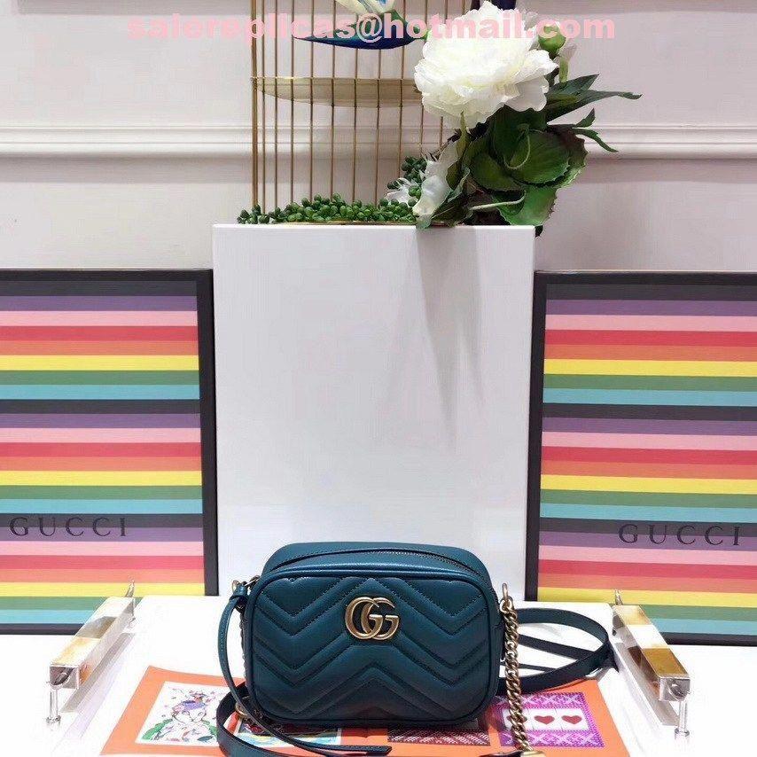 a4804a2a1575 Fake Gucci GG Marmont mini bag 448065 Green #Guccihandbags | Gucci ...