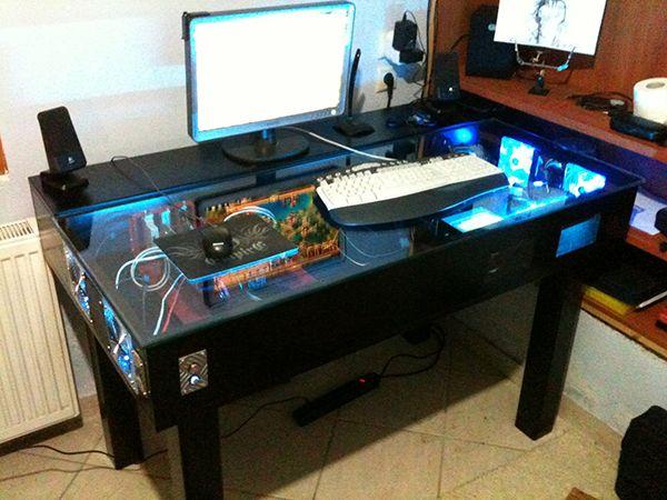 20 Sick Table Top Gaming Computers Custom Gaming Desk Diy Computer Desk Custom Pc Desk