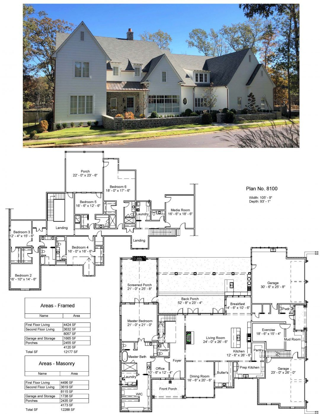 Plan 8100 Design Studio House Blueprints Luxury House Plans Dream House Plans