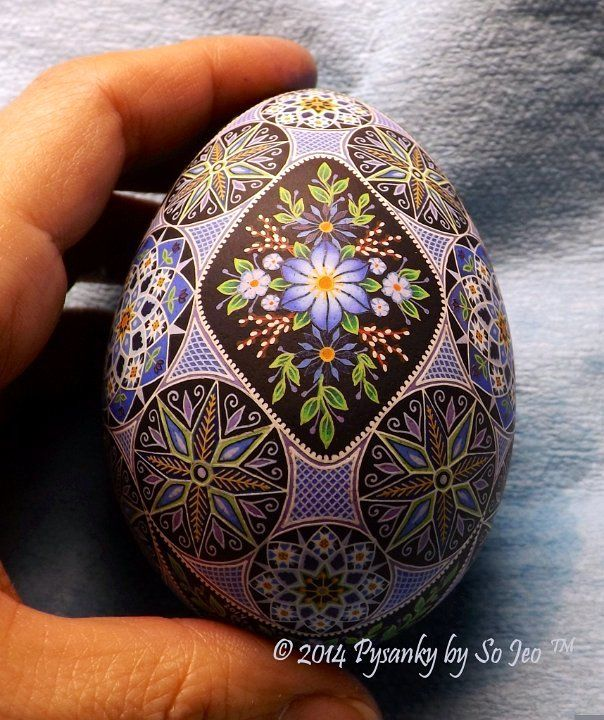 WIP Ukrainian Easter Egg Batik Art Pysanky By So Jeo