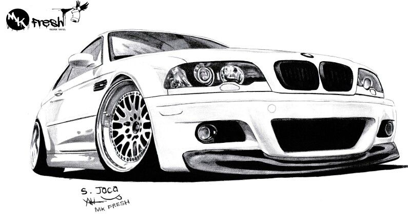 bmw e46 drawing