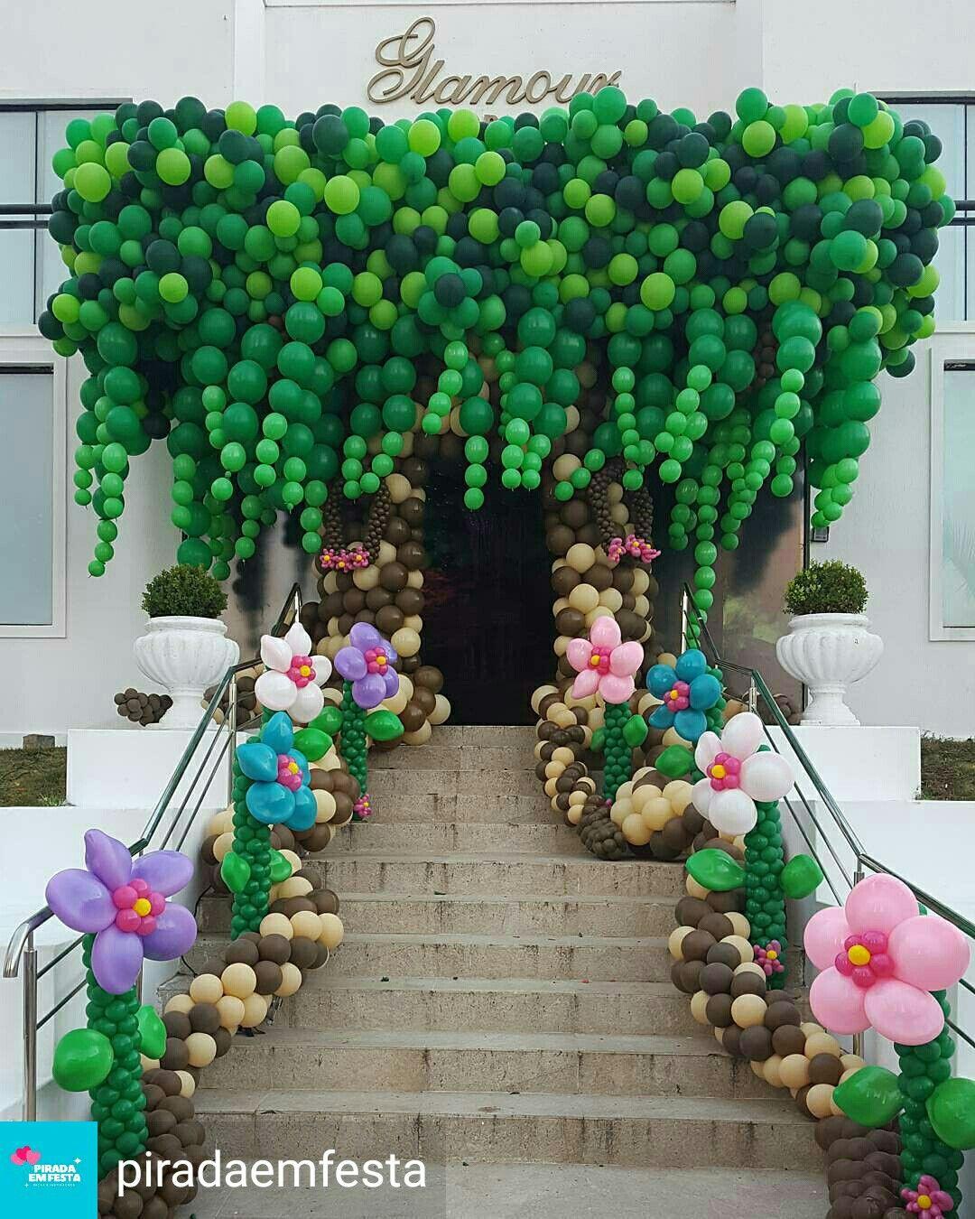 Love These Balloons Arbol De Globos Globos Decoracion Con Globos