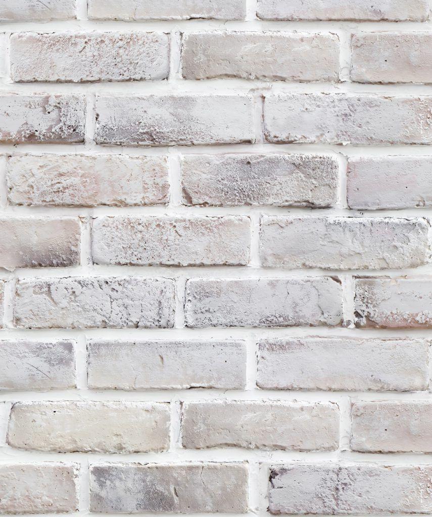 Lime Washed Bricks Wallpaper