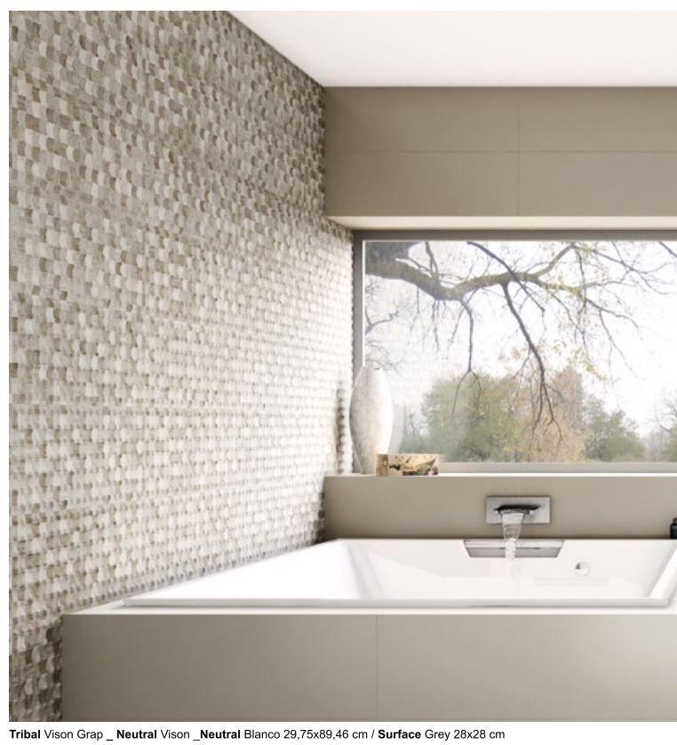 Nordic Bathroomdesign: Aparici Neutral Tribal Grap (In-Stock In Beige; Pictured