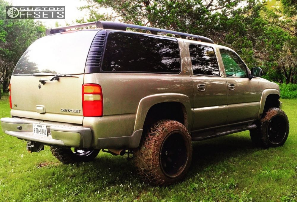4 2003 suburban 1500 chevrolet suspension lift 6 fuel octanes black hella stance 5 in 2020 chevrolet suburban rough country suspension chevrolet pinterest