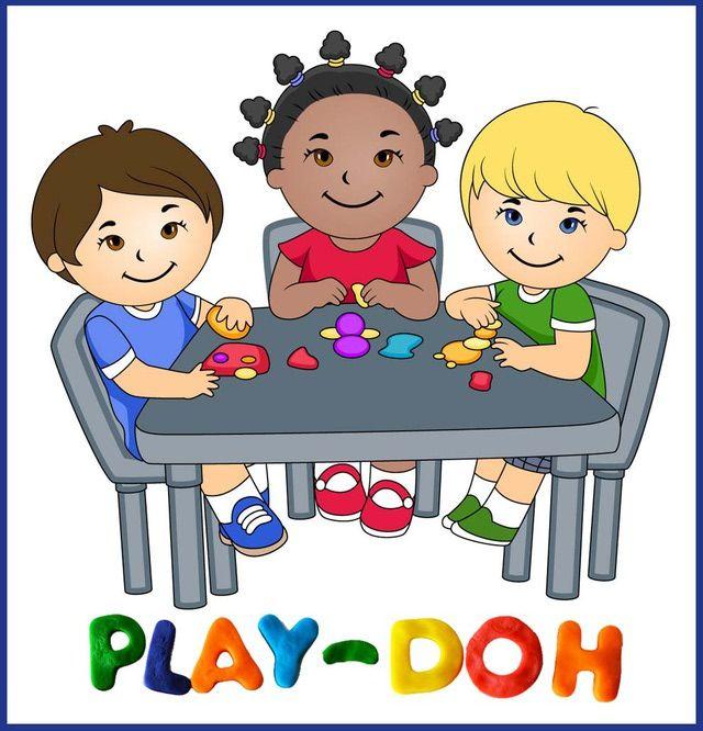 clip art of kids playing with play doh dixie allan gyerk c k rh pinterest com playdough clipart free playdough clipart black and white