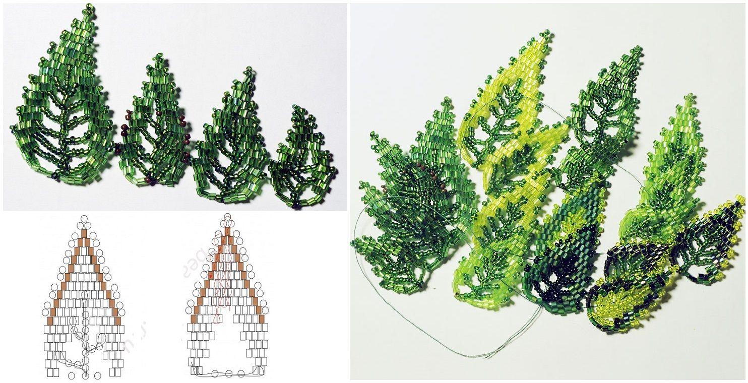плетем лист