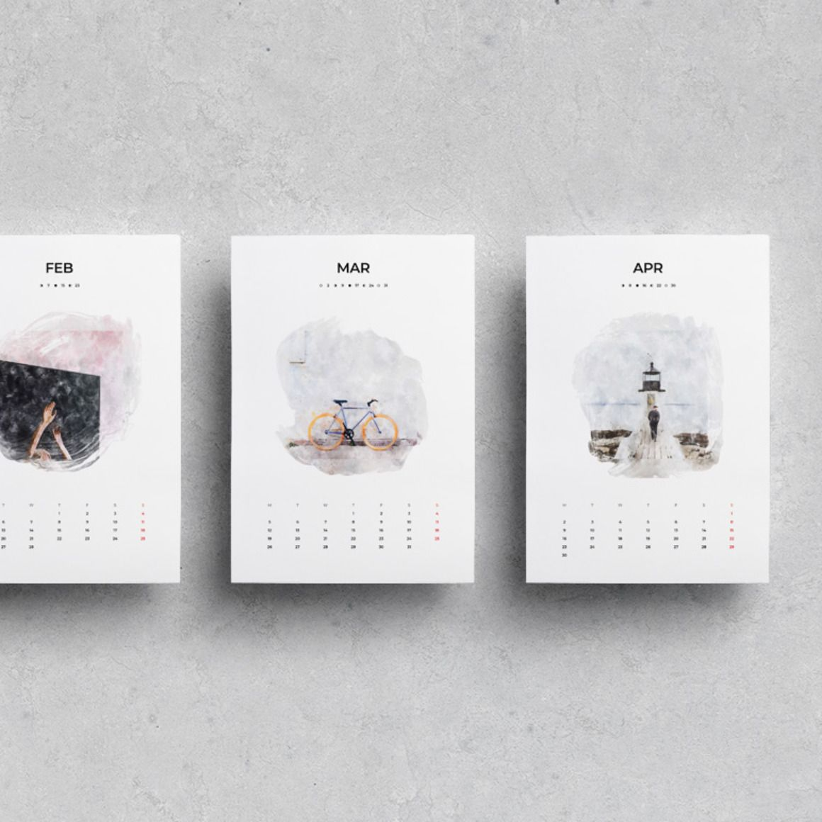 2019·2020 Watercolor Calendar