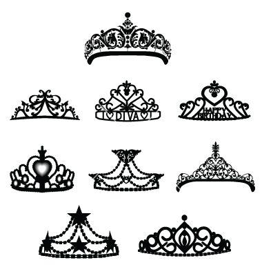 crown tiara vector 257992 jpg 380 400 tiara pinterest crown rh pinterest co uk Princess Tiana Tattoo princess tiara finger tattoo
