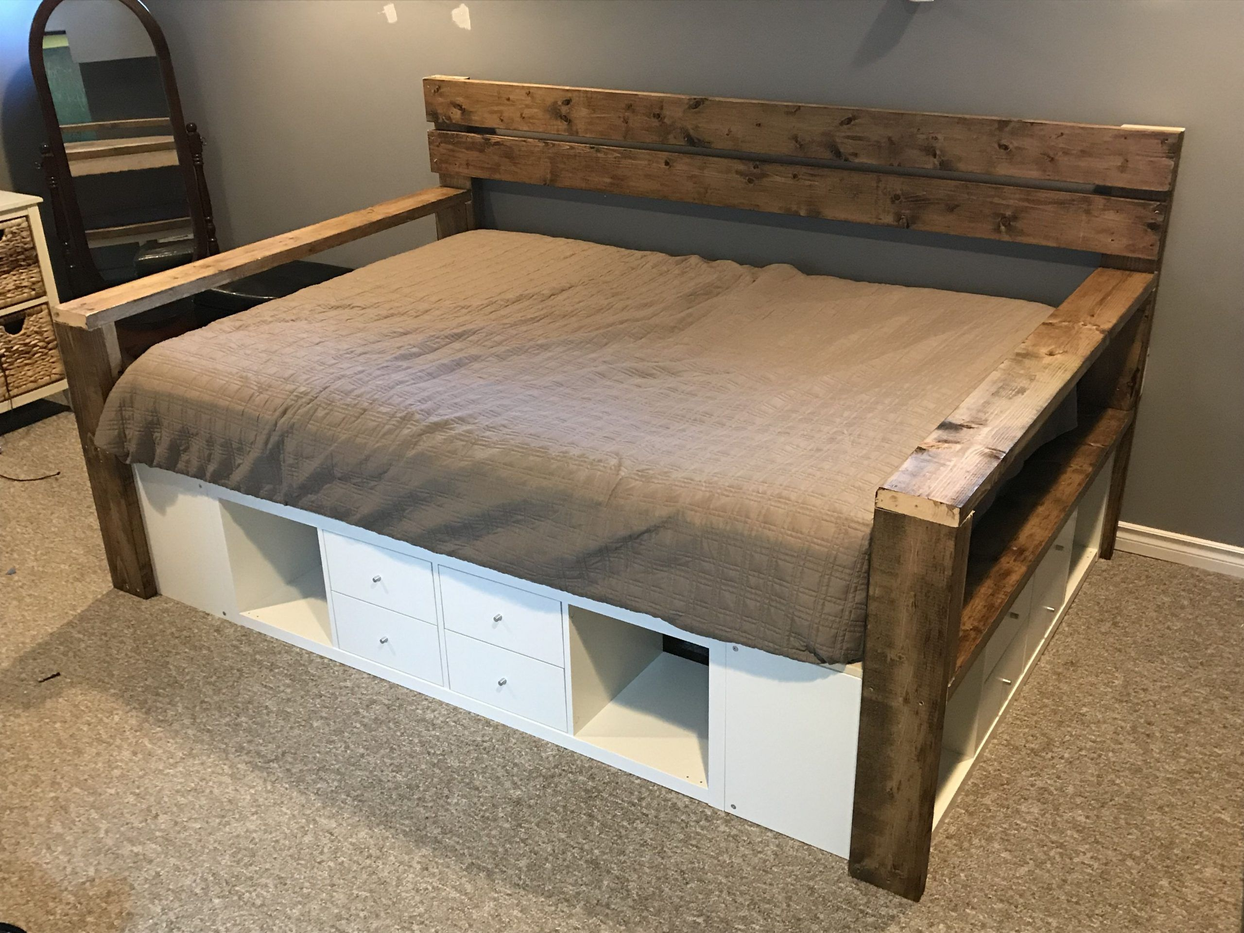 Our Ikea Hack Queen Size DayBed! in 2020 Queen daybed
