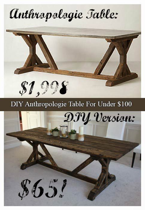 Diy Anthropologie Table For Under 100 Build A Table Diy