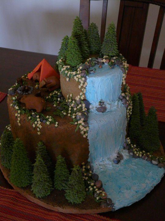 Outdoor Cake Cakecupcake Ideas Pinterest Cake Birthdays And