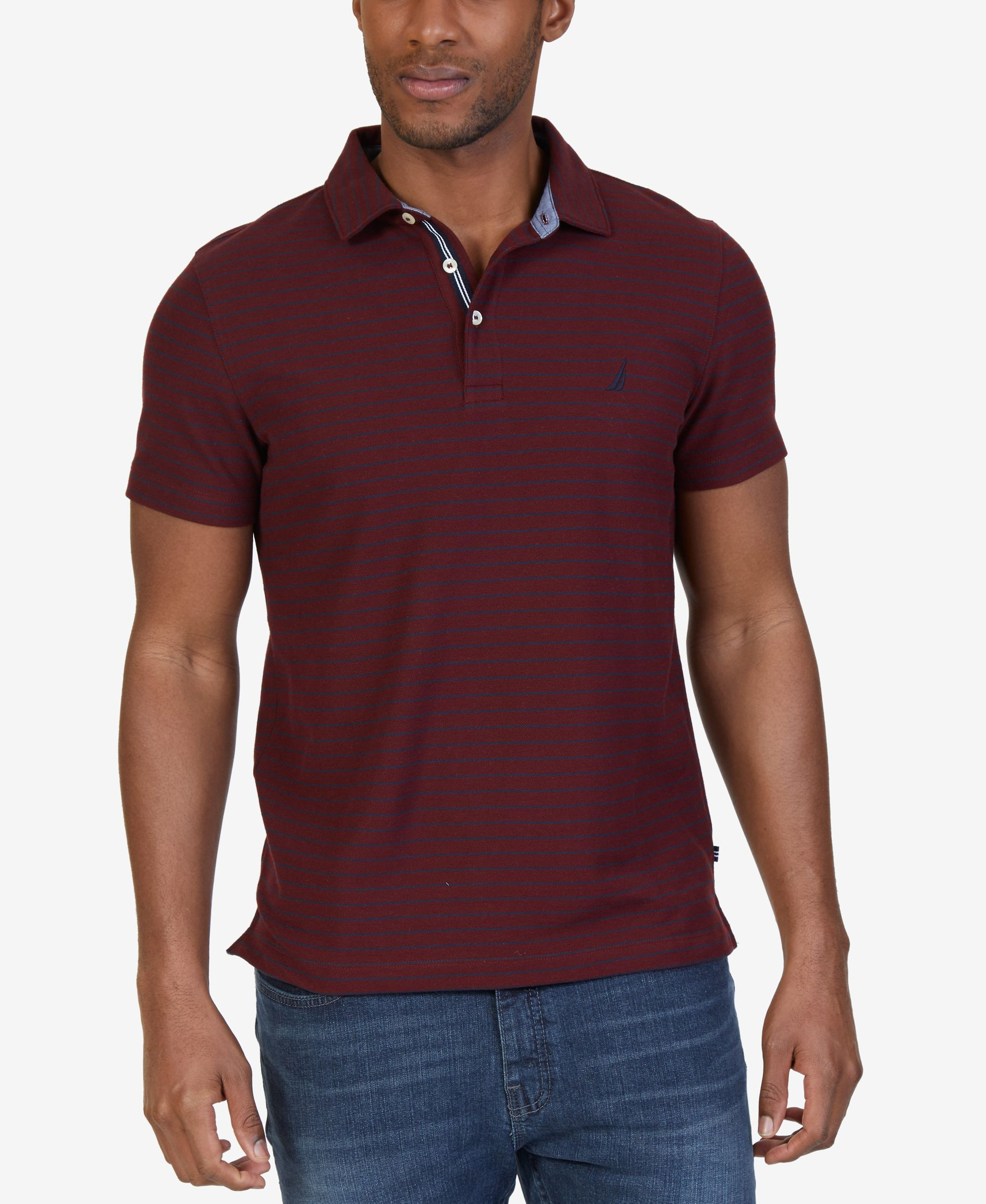 7b5864c4 Nautica Men's Slim-Fit Striped Performance Polo | Products | Polo ...