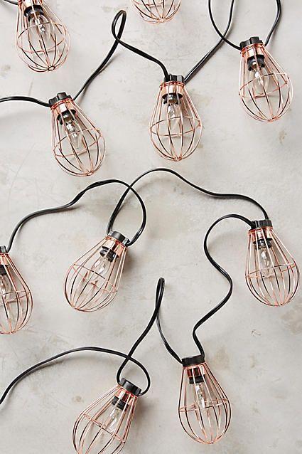 Anthropologie Caged Bulb String Lights #anthroregistry