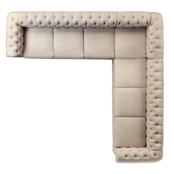 Moser bay furniture roll arm 7 seats sectional sofa set for Sofas en l modernos