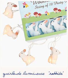 Guirlande lapin blanc cr ez une lumi re douce dans une for Lumiere dans la douche