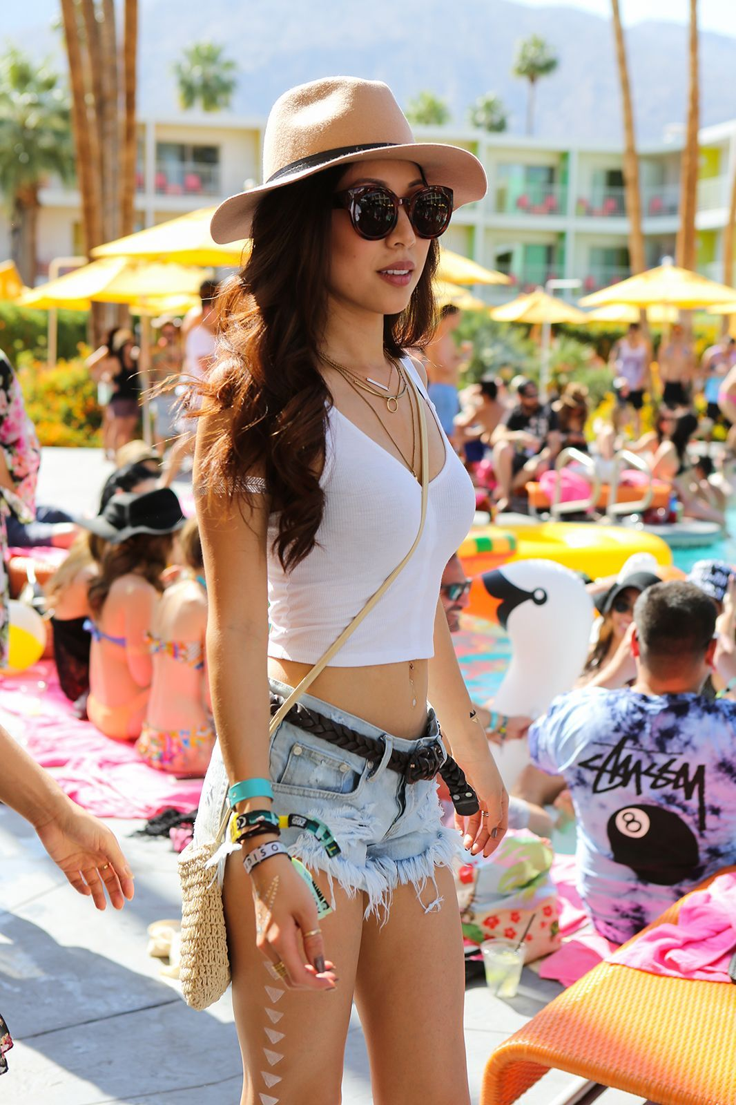 30 Pool Party Outfits From Coachella 39 S Best Bash