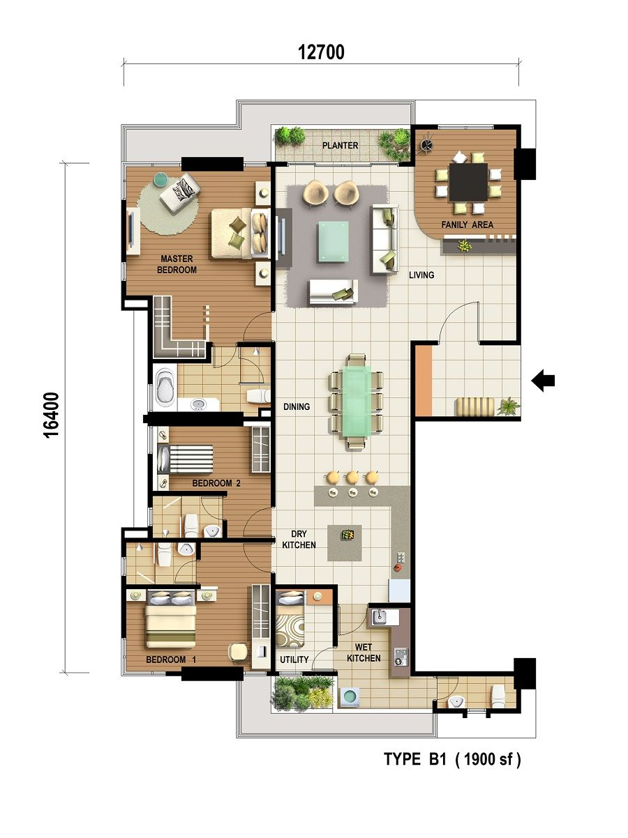 The Cantonment Cantonment Property Floor Plans