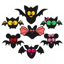 Cute Bat Svg Cuttable Designs Cute Bat Halloween Silhouettes