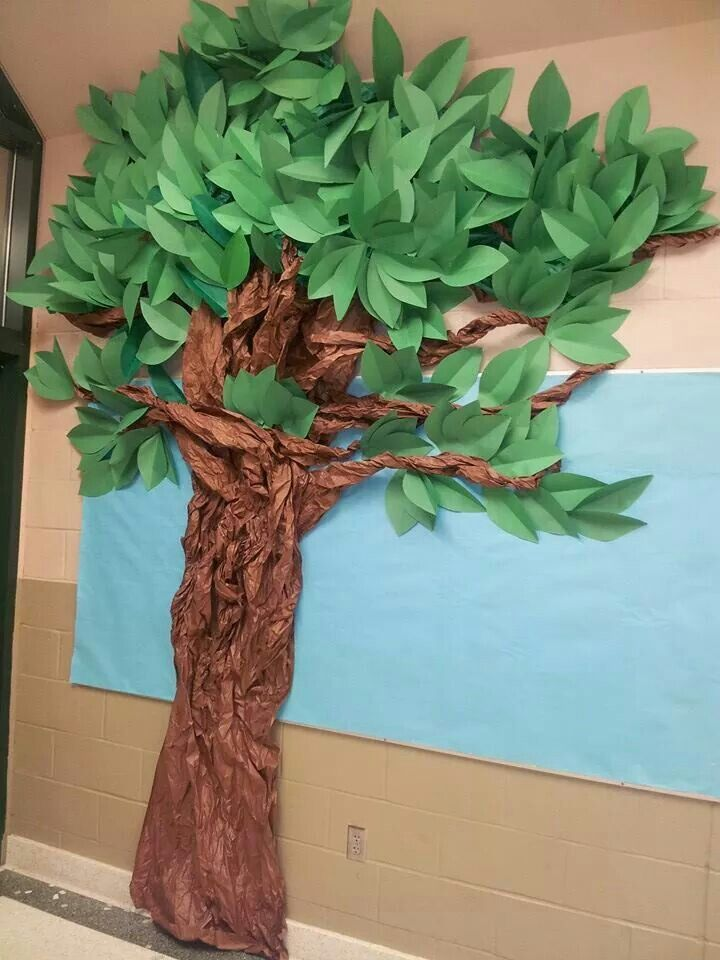 tree i made out of construction paper and brown bulletin paper my class crafts bulletin. Black Bedroom Furniture Sets. Home Design Ideas
