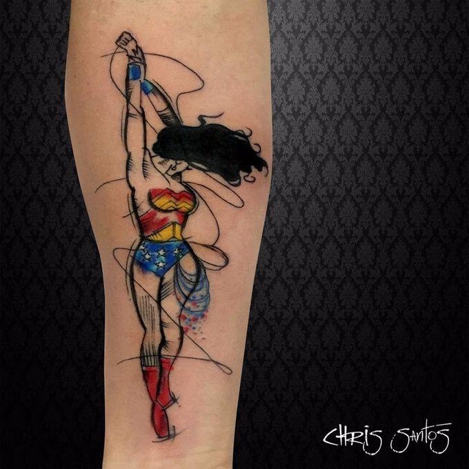 265b90ef0 30 Geniale Wonder Woman Tattoos   Wonder Woman   Marvel tattoos ...