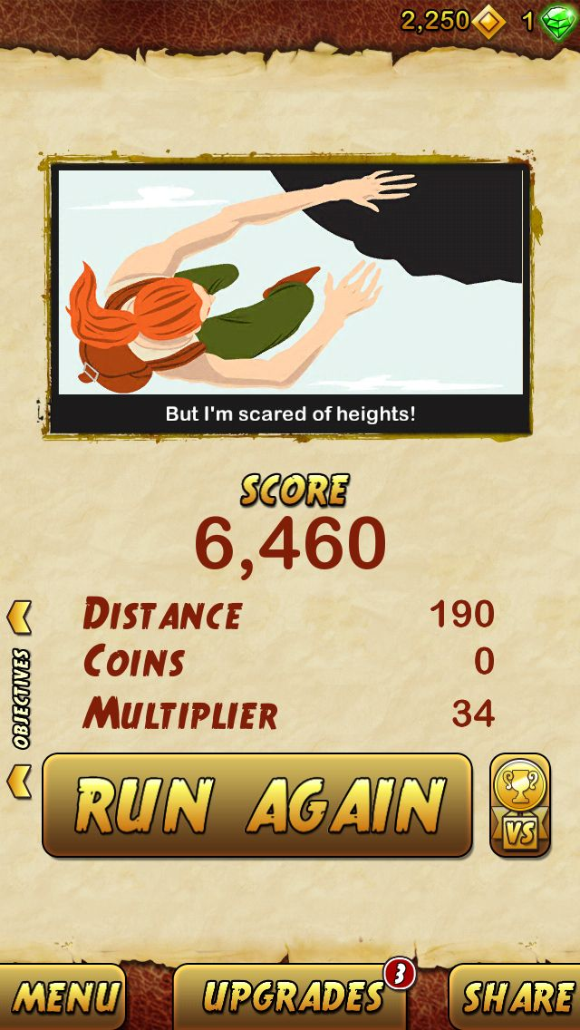 I got 6460 points while escaping from a Giant Demon Monkey. Beat that! http://bitly.com/TempleRun2iOS