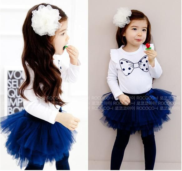 Toddlers Outfits Baby Sets Girl Suit Kids/Childrens Clothes Cute printed T-shirt+Tutu Skirt Leggings from China