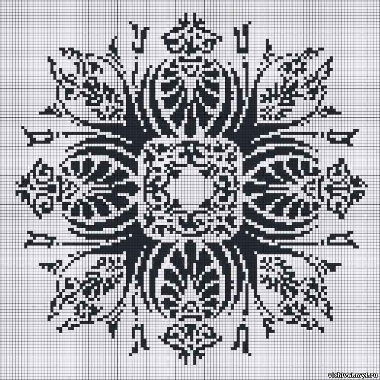 Монохром вышивка орнамент