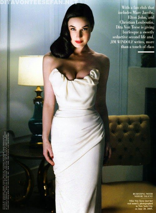 f76223d90629 Dita Von Teese is amazing in this white flattering gown