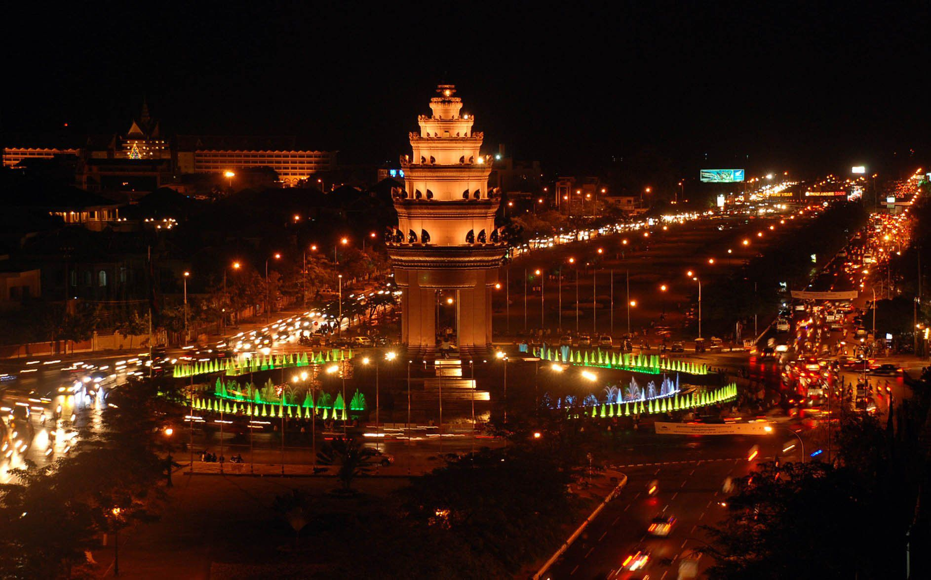 Image result for Cambodia city NIGHT