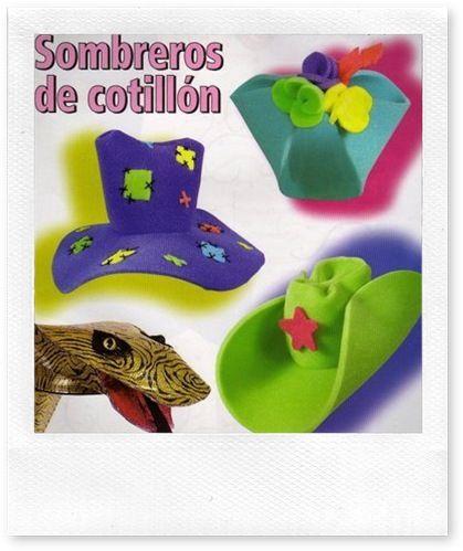 Sombrero cowboy goma eva - Imagui