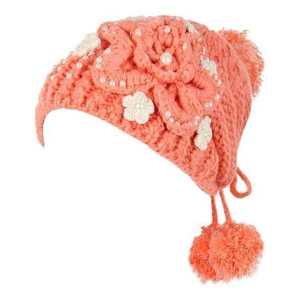 Flower Crochet Knitting Braids Caps Slouch Beanie Ball Bead Woven ...